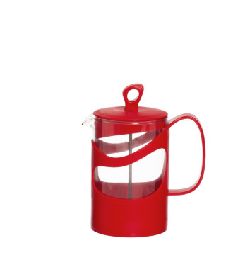 660 cc Tea & Coffee Press  - Red