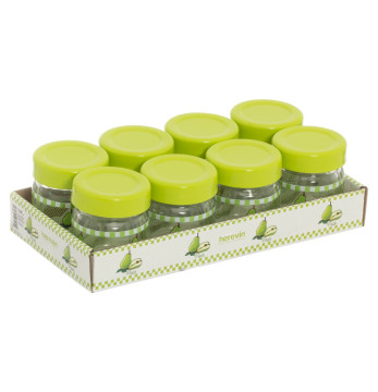 8 pcs 40 cc Decorated Jam Jar Set