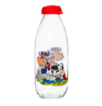 1 lt Desenli Süt Şişesi