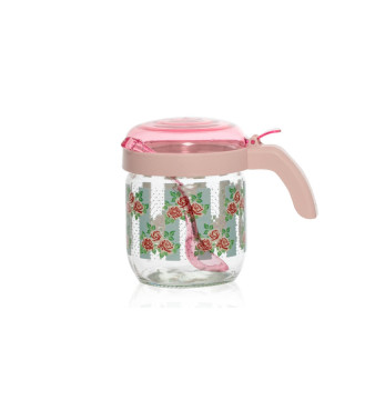 Decorated 425 cc Spice Jar with Spoon
