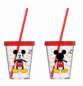450 cc Tumbler with Straw-Mickey Mouse