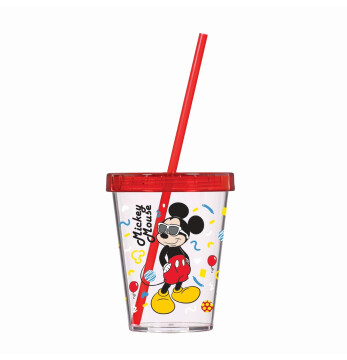 450 cc Tumbler with Straw-Mickey Mouse-SAN