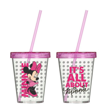 450 cc Tumbler with Straw-Minnie Mouse