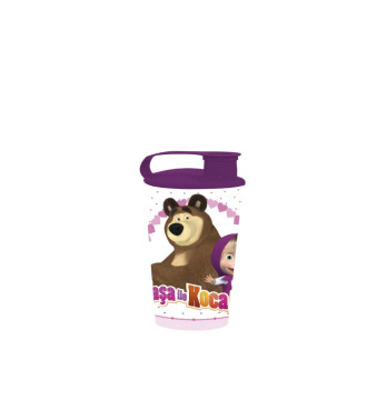 340 cc Licensed Cup with Cap-Masha and the Bear