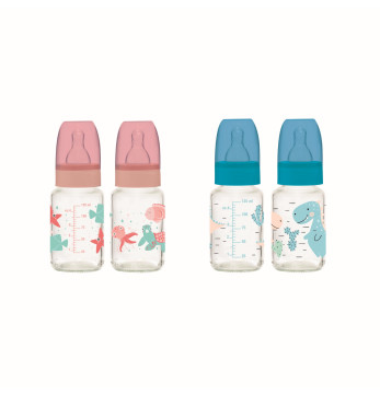 125 cc No:1 (0-6 Months) Glass Feeding Bottle