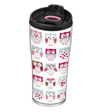 440 cc Decorated Coffee Mug-Owl