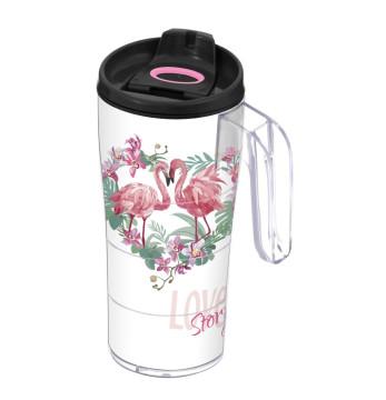 440 cc Coffee Mug with Handle - Flamingo