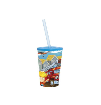 340 cc Cup with Straw - Cars