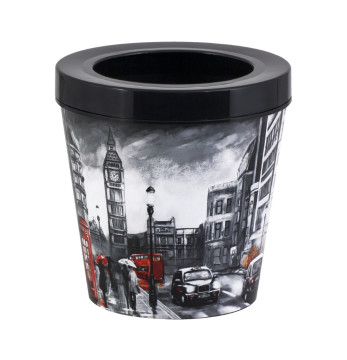 5,35 lt Decorated Dustbin-London