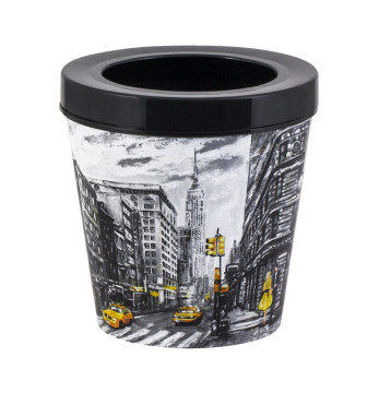 5,35 lt Decorated Dustbin-New York