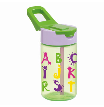 0,43 lt Decorated Water Bottle-PP-Alphabet
