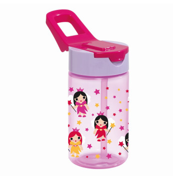 0,43 lt Decorated Water Bottle-PP-Princess