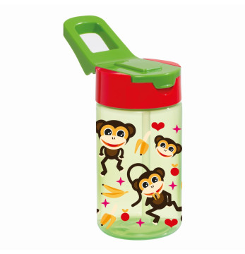 0,43 lt Decorated Water Bottle-PP-Monkey