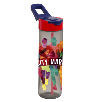 0,7 lt Decorated Water Bottle with Straw