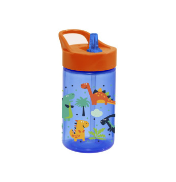0,43 lt Decorated Water Bottle-PP-Dinosaur