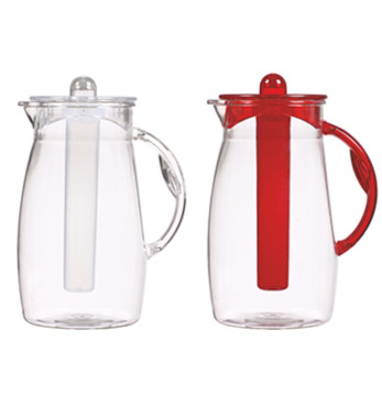 2,5 lt Plain Jug - Clear Body+Handle,Cover and Ice Tube-Mix