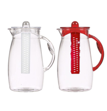 2,5 lt Plain Jug - Clear Body + Handle, Cover and Infuser-Mix