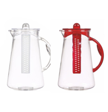 2,5 lt Conical Jug - Clear Body +Handle, Cover and Infuser-Mix