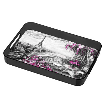 Decorated Rectangular Tray