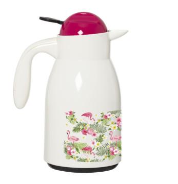 Decorated Vacuum Flask-Flamingo