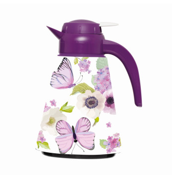 1,2 lt Conical Thermos - Purple Butterfly
