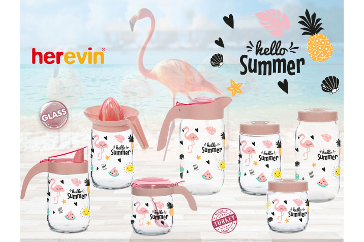 Hello Summer Flamingo Glass Serisi
